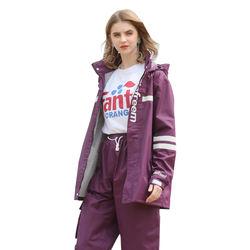 Womens raincoat suit waterproof rainwear for rainy days riding