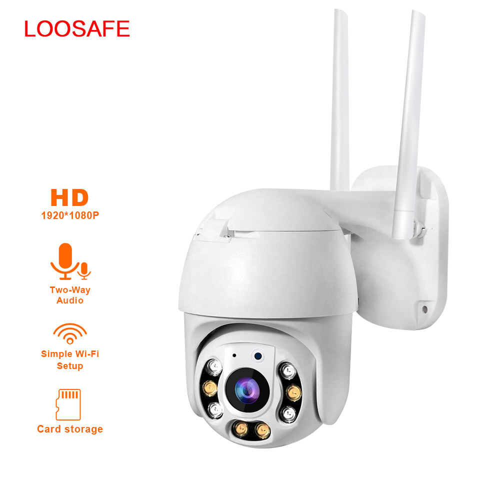 Outdoor PTZ IP Camera Auto Pelacakan Gerak Wifi 1080 P Infrared Malam Visi Waterproof Pengawasan RJ45/WIFI Dome cam
