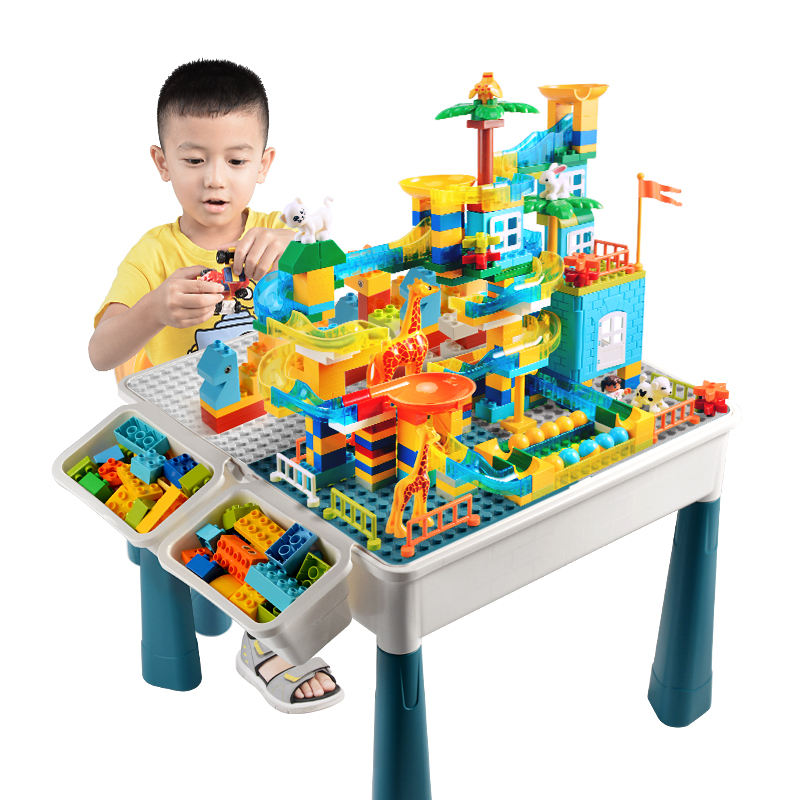 legoingly multifunctional table blocks compatible learning table with storage box building blocks set
