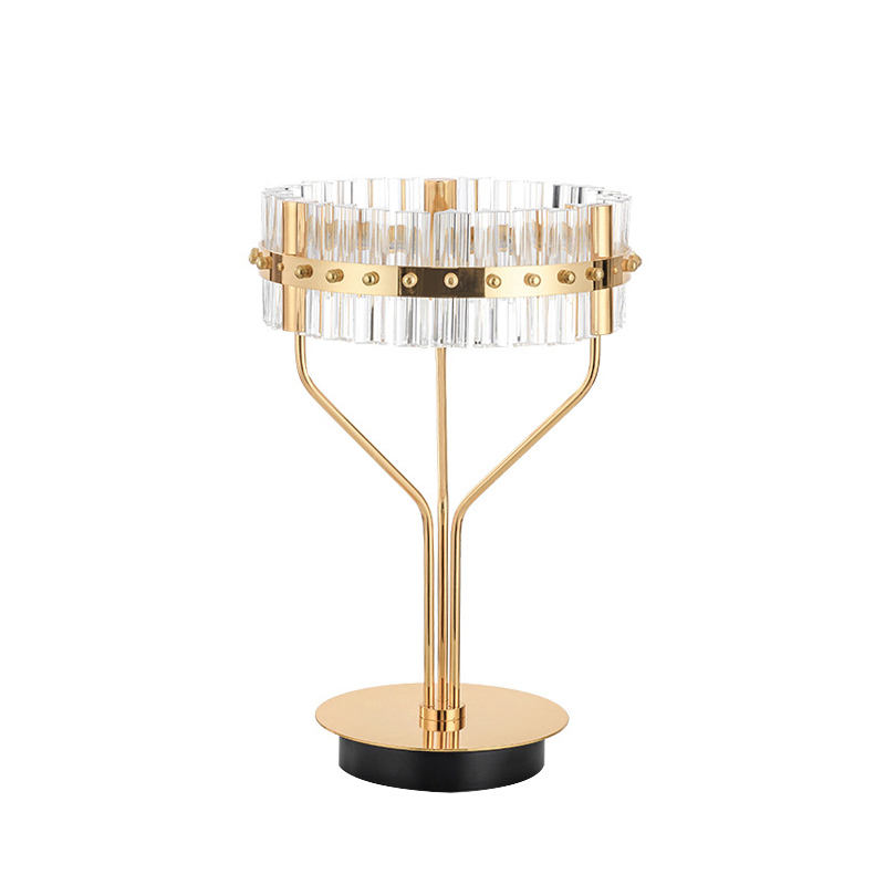 nordic vintage decorative bedside metal modern mini italian led asfour crystal table lamp luxury