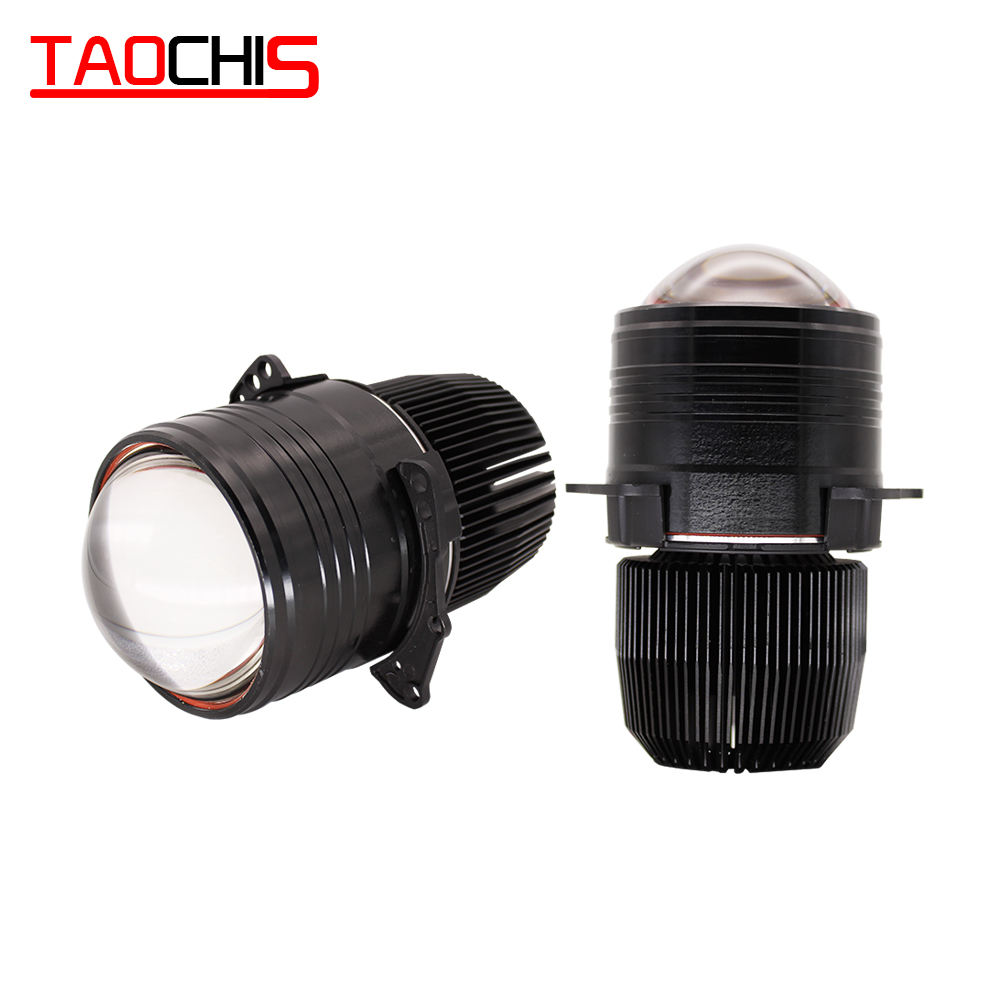 TAOCHIS 3.0 inch 12V 50W 8000LM Bi-LED Auto fog lamp retrofit High low beam Car Upgrade bi led projector lens for Car light