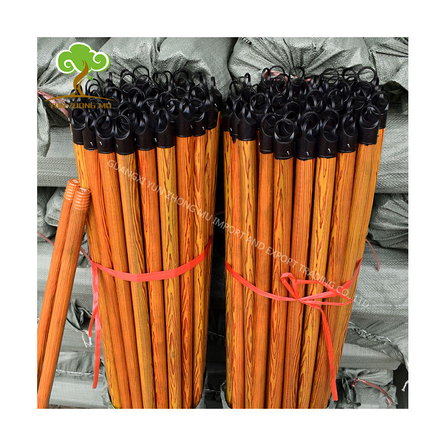 Wholesale cleaning tool for broom/ mop /brush durable lowest price wooden handle mop stick wood