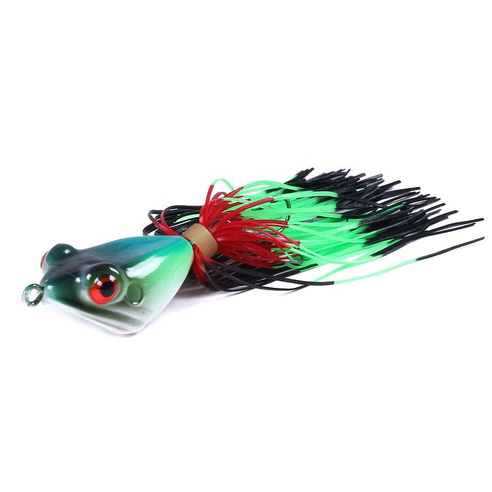 Top hard Frog lures fishing water Jump Bait Plastic Rubber Frog Fishing bait