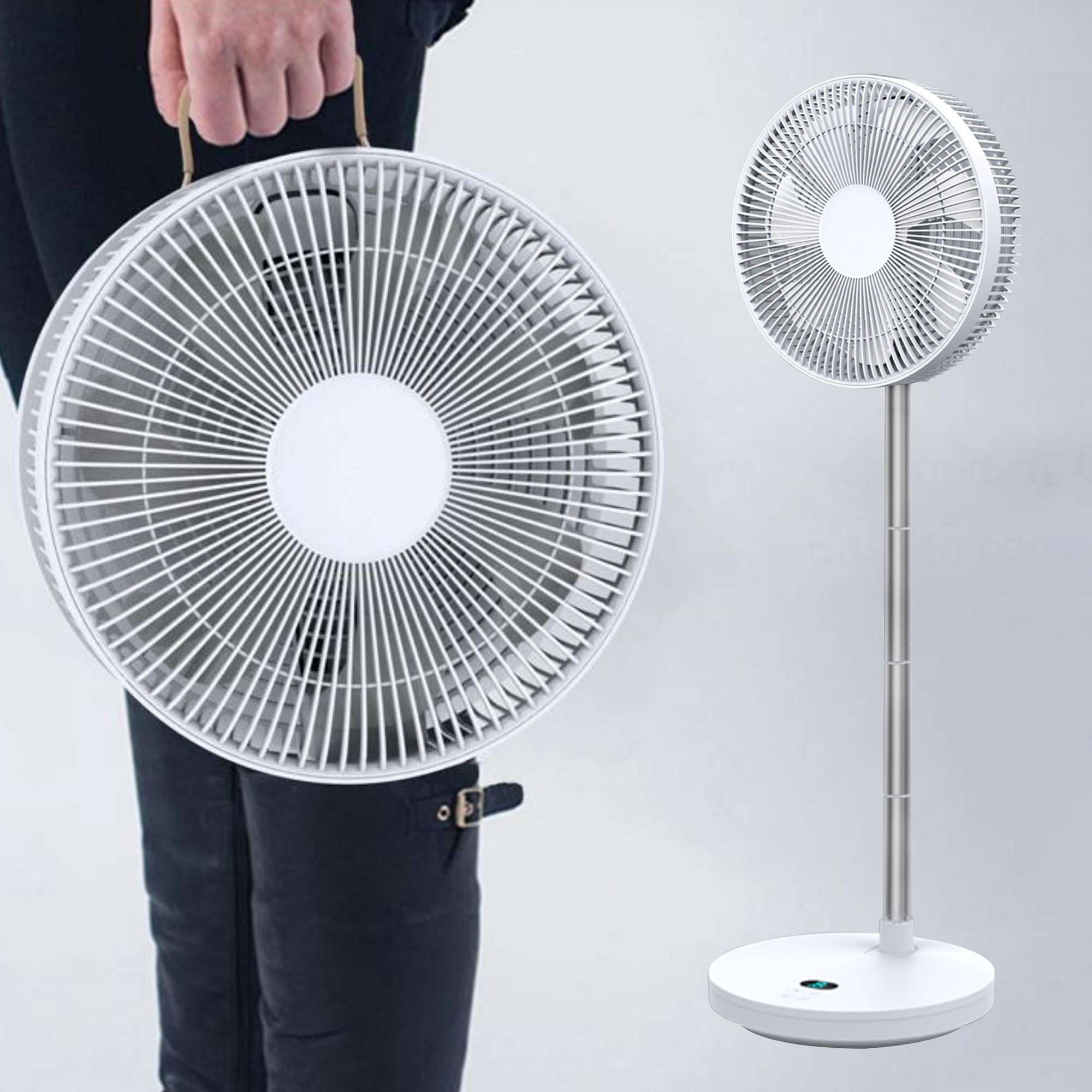 Pedestal Rechargeable Table Fan Portable USB Handheld 12v Dc Stand Folding Foldable Standing Air Cooler