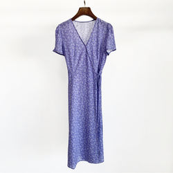 Purple printed dress in autumn 2020