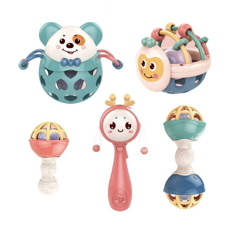 Wholesale Baby Toys Gift Set Plastic Rattle Toys Newborn Baby Rattle Toys