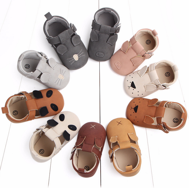 Infant Baby Girls Boys Slippers Toddler Cute Animals Cartoon First Walkers Loafer Shoes