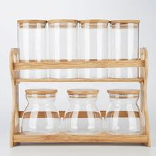 7 Set Glass Storage Jar Container With Lid Kitchen Storage Containers