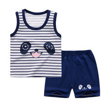 Hotsale vest+short pants baby boys' clothing sets cute cheap price baby clothes