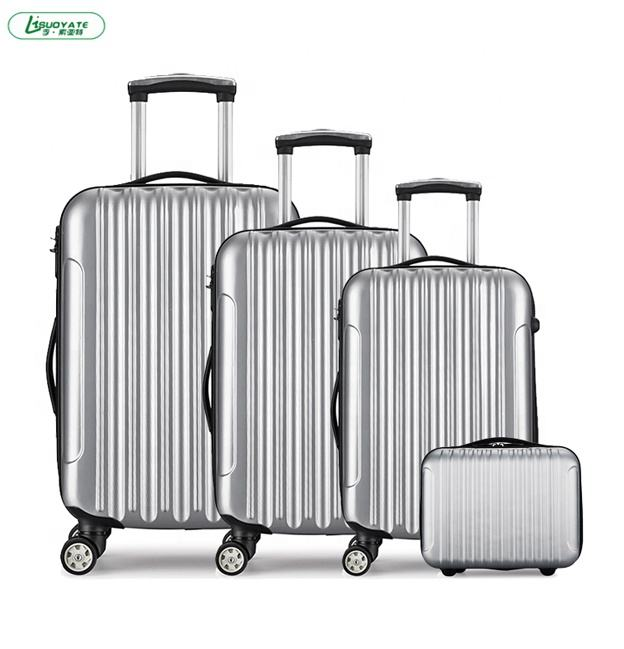 20/24/28 ABS 4wheel Trolley Suitcase Luggage factory Set 3 piece of abs luggage set travel suitcase