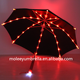 China Manufacturer Wholesale Fashion Light Glow In The Dark Clear Led Umbrella