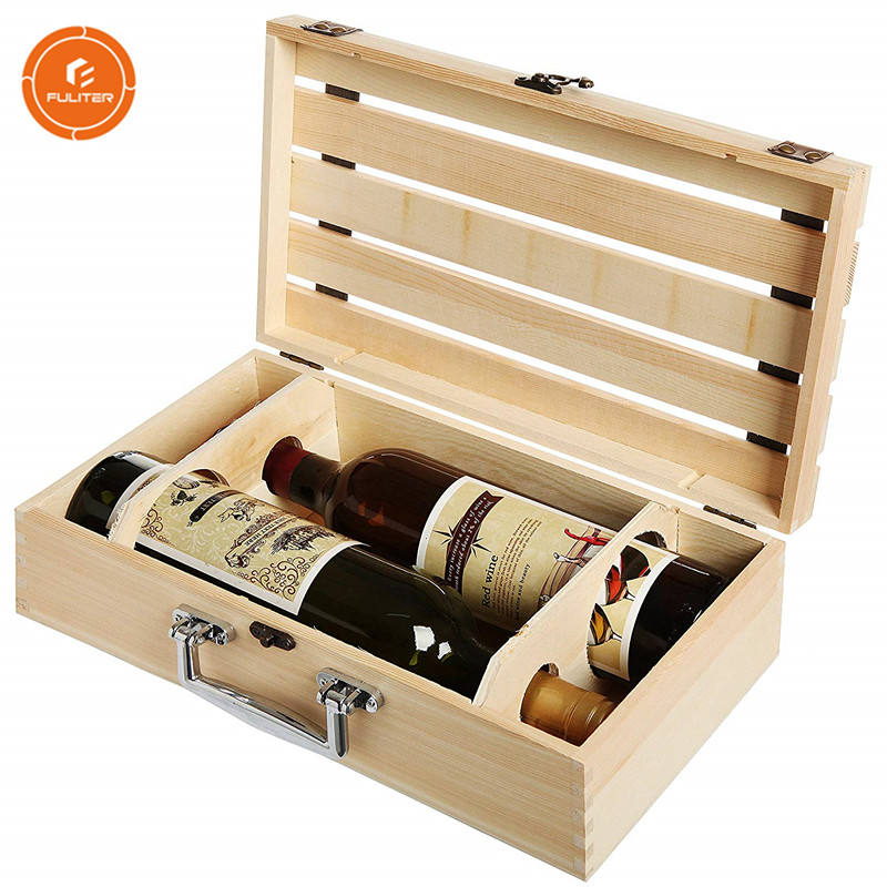 China Manufacturer Fancy Personalised Bulk Wine Wooden Box