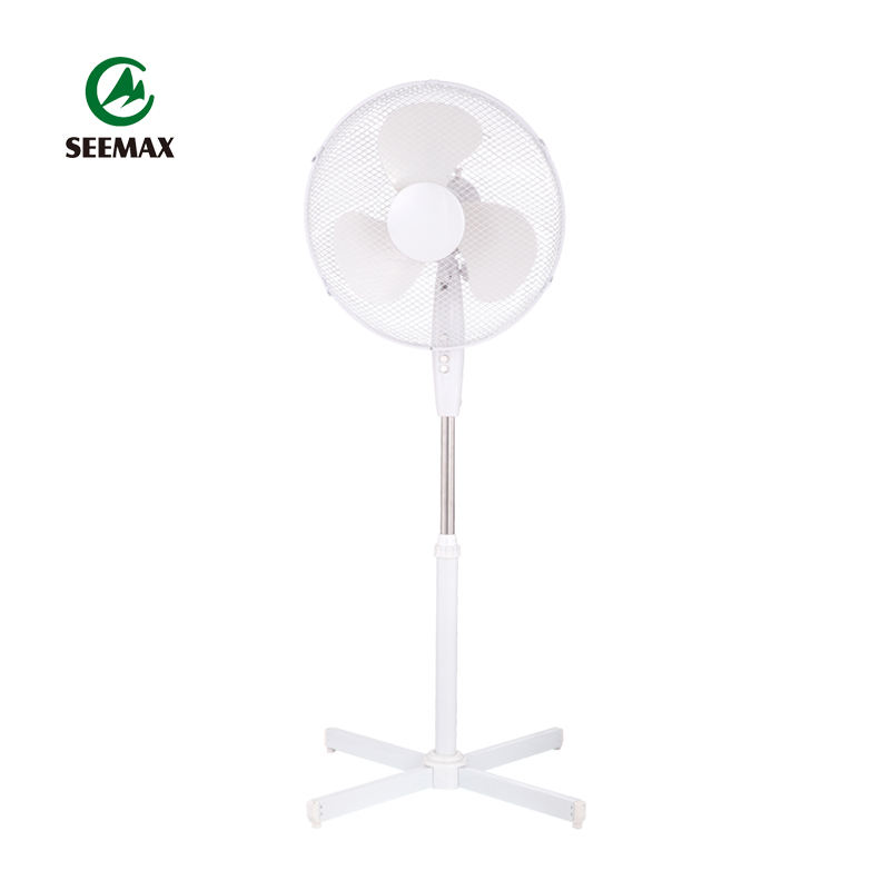 Home Room 220v 16 Inch Height Adjustable Plastic Pedestal 3 Speed Electric Floor Standing Fan