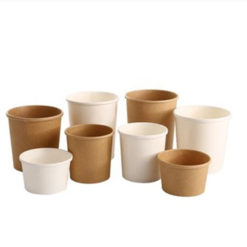 Custom Printing Disposable Compostable ECO 8OZ 12OZ 32OZ PLA Coated Paper Cup Soup