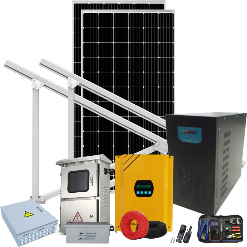 Solar generator kit with 28w 6kw foldable panel solar generator kit foldable panel