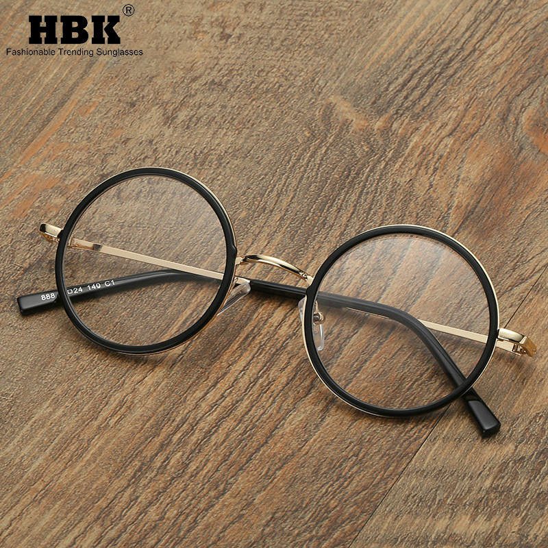 HBK Vintage Round Glasses 2019 Fashion Clear Lens Eyewear Optical Spectacle Frame PG0064