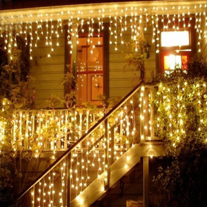 Kerstverlichting Garland Led Gordijn Ijspegel String Fairy Light 4M 96 Leds Drop Party Tuin Stage Outdoor Decoratie