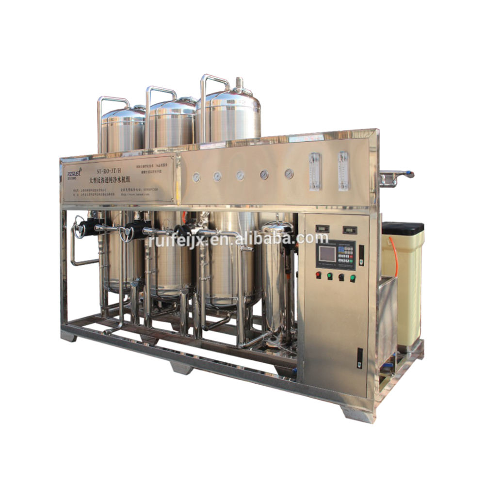 Stainless steel 3000L/H RO Pure Water Machine Producing Drinking Pure Water for Bottled Drinking Water