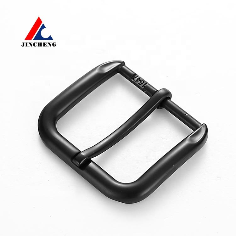Wholesale good quality black blank metal pin belt buckle for belt
