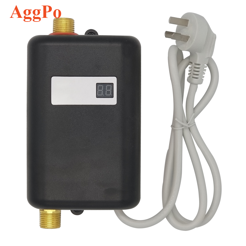 Tankless Water Heater, Mini Electric Tankless Instant Hot Water Heater, Bathroom Kitchen Washing Water Heating Machine