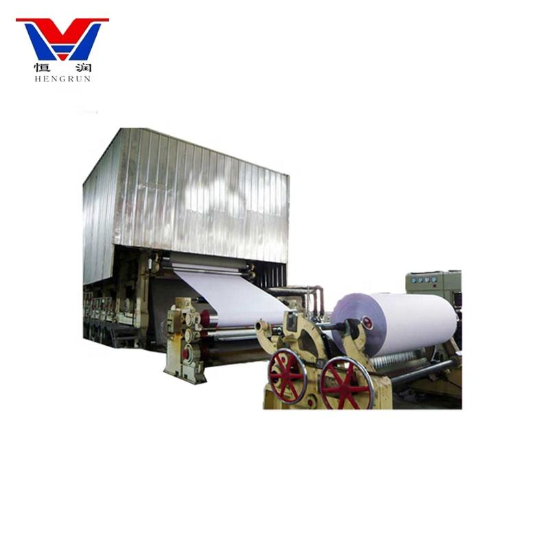 Raw material Pure Wood Pulp jumbo roll making machine a4 paper production line