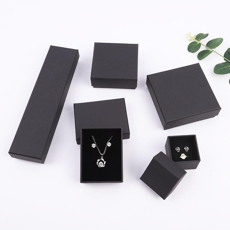 Custom logo printed velvet paper packaging jewelry box
