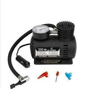 Portable mini 12V 24v tire inflators for tires and small inflatables car air pump