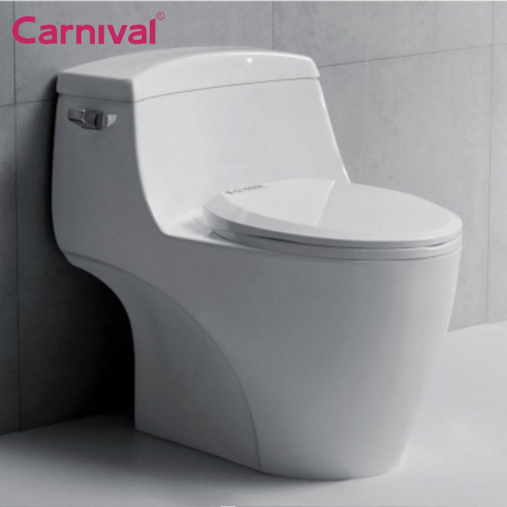China factory bathroom American big brand design siphonic single flush one piece water closet toilet