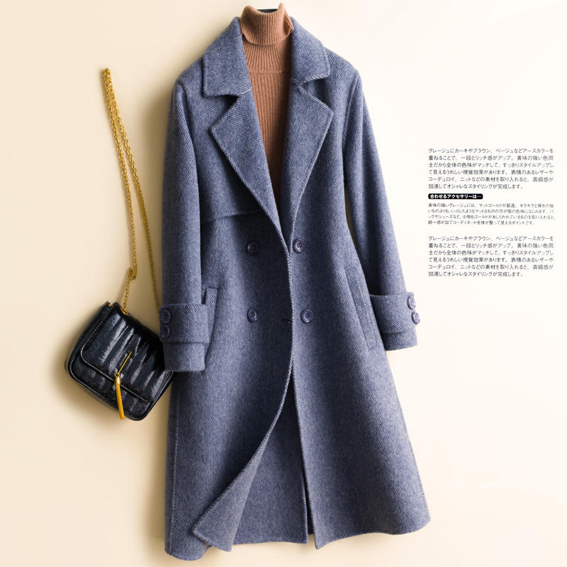 2020 Custom New Trends Ladies Winter Long Women real wool Coats 100% Cashmere Wool blend coat