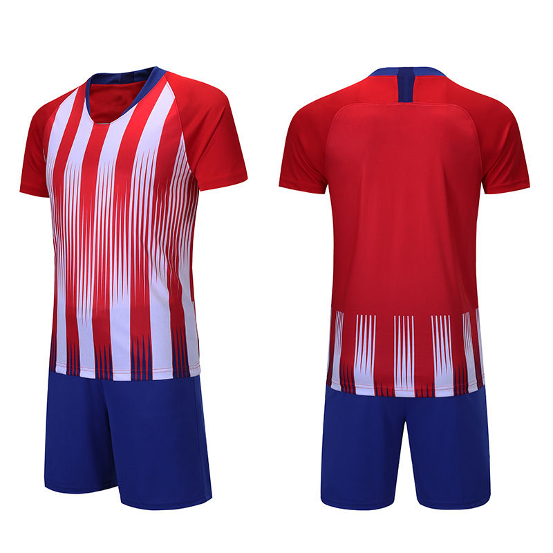 Blue Red authentic international soccer jerseys Men Team Training Soccer Wear Football shirts