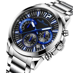 2020 new arrived mens luxury stainless steel watches analog quartz chronograph business watches