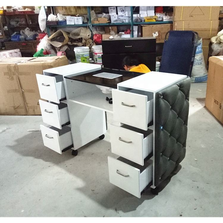 Cheap nail salon station professional nail tables for sale