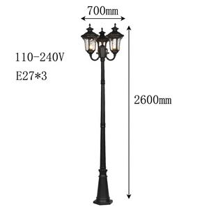 Outdoor waterproof street post lamp high power high pole super bright Garden lamps