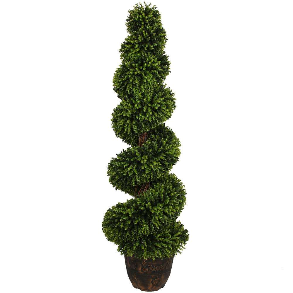 Wholesale Large Boxwood Spiral Topiary Artificial Boxwood Tree for Indoor and Outdoor Decorative Pot Artificial Big Spiral Tree