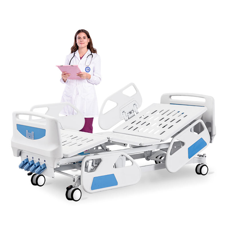 SK015-2 Hospital Bed Saikang Comfortable Medical Hospital Equipment Five Functions Manual Bed