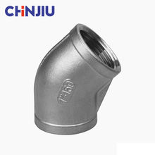 45 Degree Square Casting Industry Fittings Female Thread Elbow