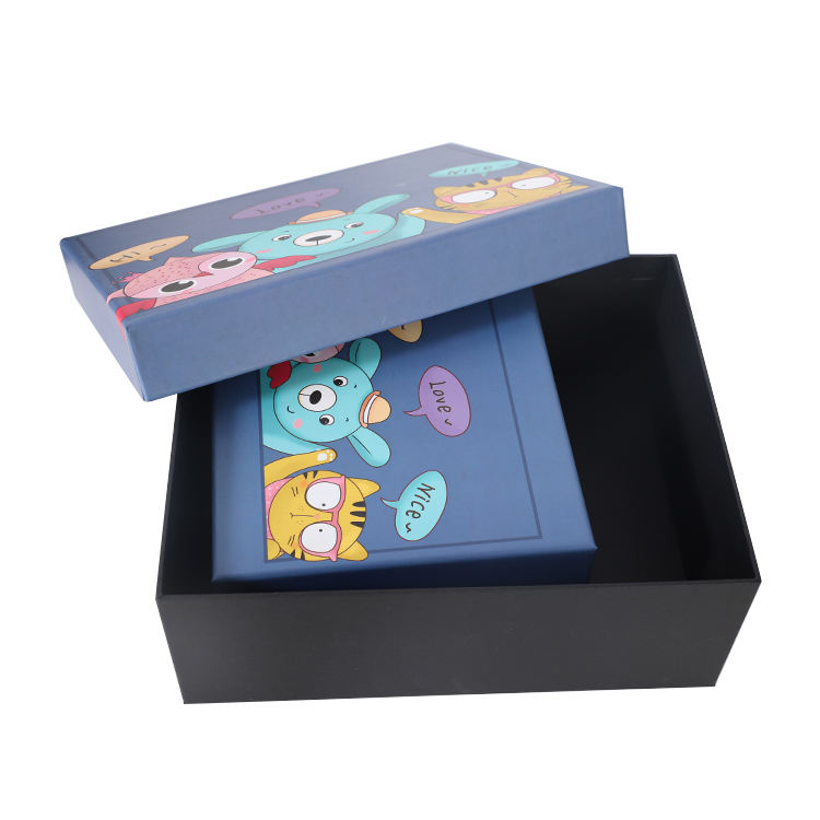 Hot sale custom printing creative kids gift paper packing boxes with lid