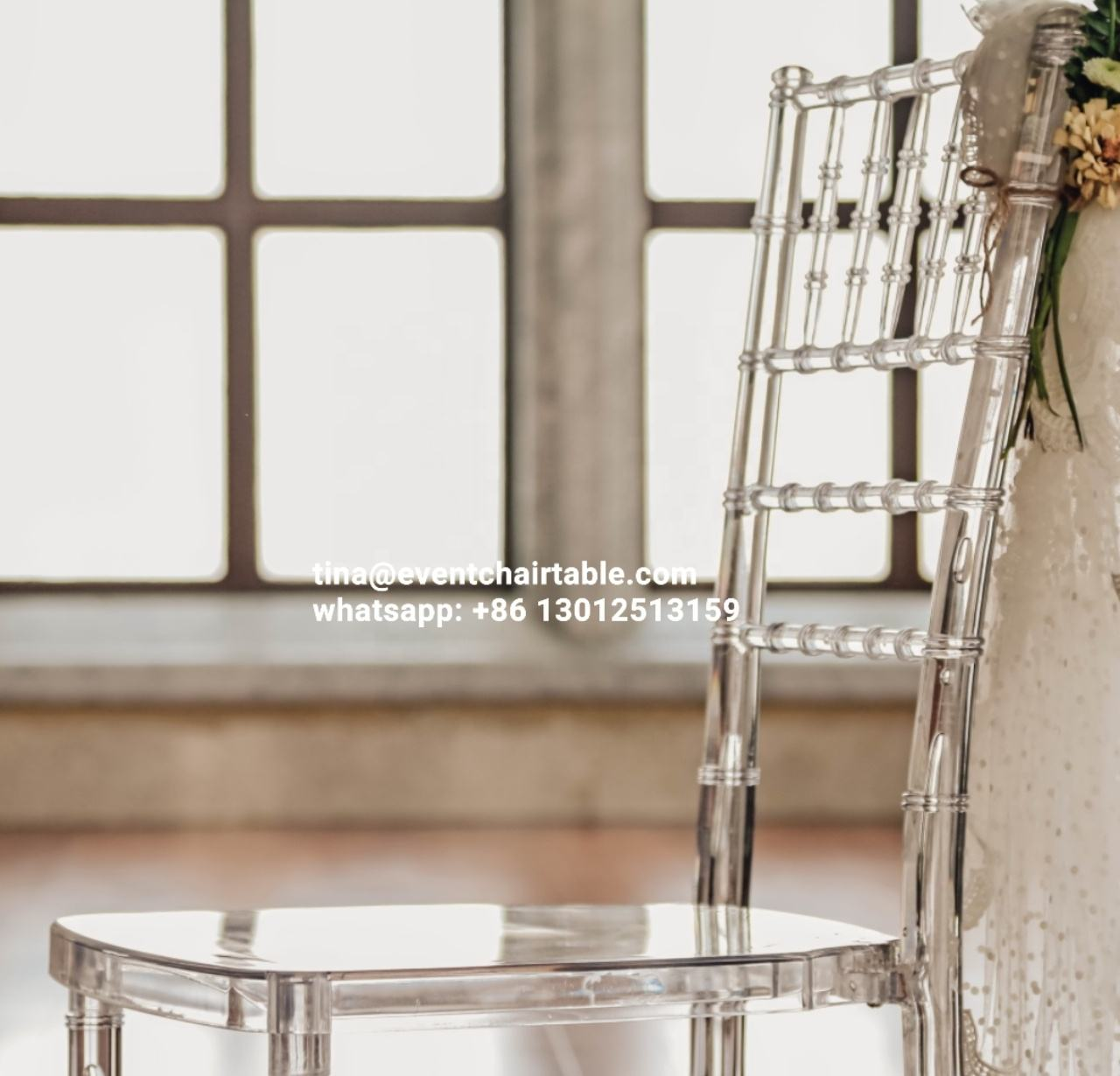 Rental Clear Crystal Resin clear chiavari chairs Wedding Chair for Banquet Event