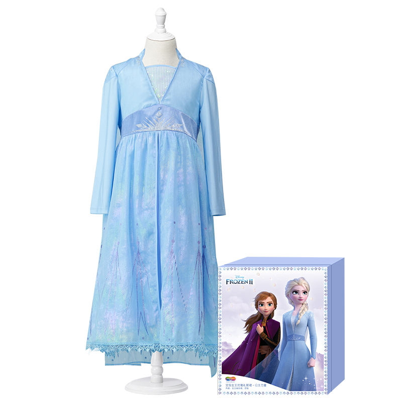 Costumes Kids Halloween Party Girls Dress Up Fancy Princess Costume Role Play Halloween Party Classic Elsa Jewelry With Necklace And Earring For Kids