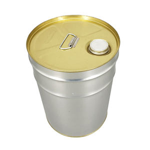 anti rust 20 liter metal drum of paint with plastic handle and metal
