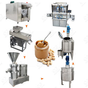 South Africa Small Scale Almond Roaster Production Line Cashew Nut Butter Making Machine Manufacturing Peanut Butter Plant