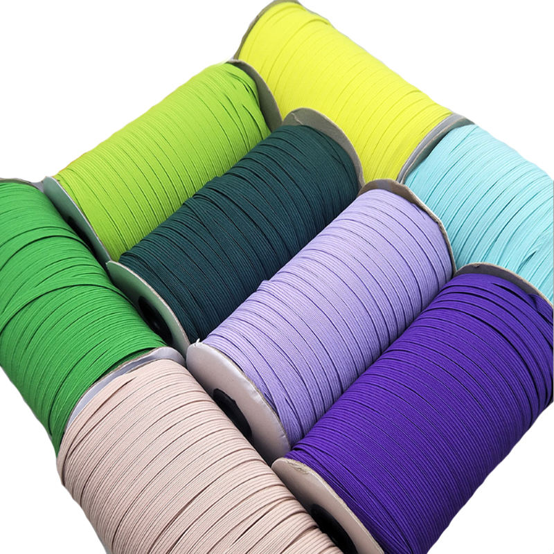 in-stock over 290 colors 6mm elastic band tape for notebook books with high elasticity