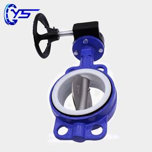 Wafer Type Soft Seal Center Line Butterfly Valve For Adjusting
