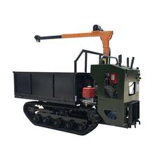 Crawler carrier rubber track dumpers with hiab crawler dumper 1 ton mini transporter