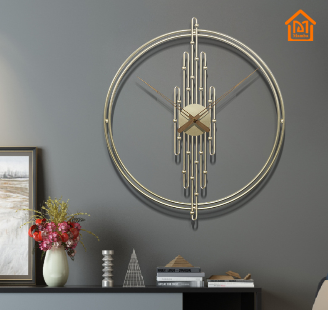 Simple design round bulk price gold wall clock without numbers