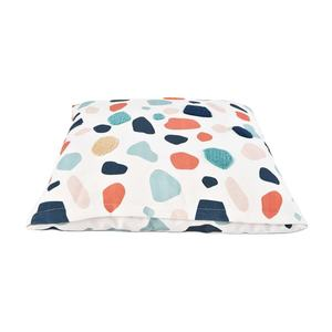 Terrazzo Colorful Print Fluffy Comfy Pet Dog Pillow Bed With Zipper