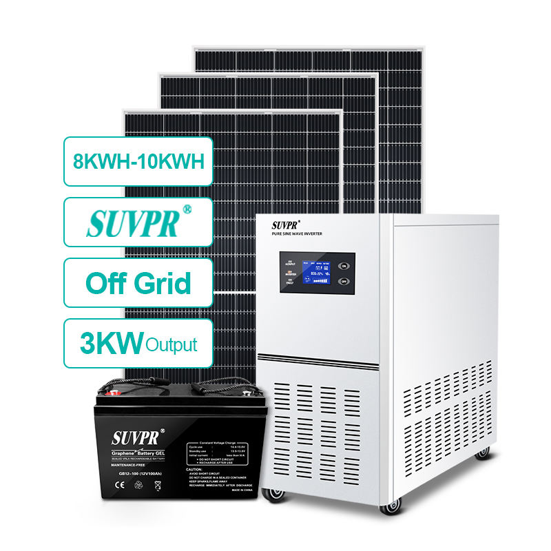 3KW Home Power Off Grid 3000W Solar Energy System