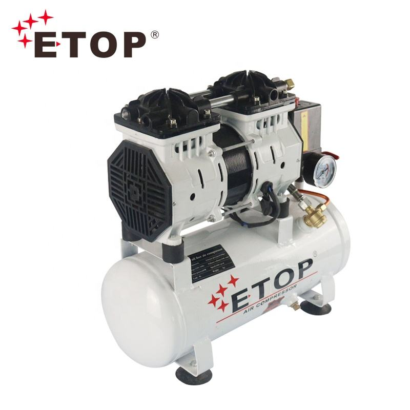 ETOP Factory Direct Sales 100% Silent Oil Free Air Compressor 9L