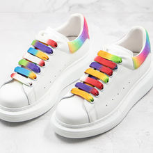 Rainbow Shoelacesp Colorful Tail Alexander Fashions MC Thick Bottom Casual Sports MQ Shoes Drop Shipping