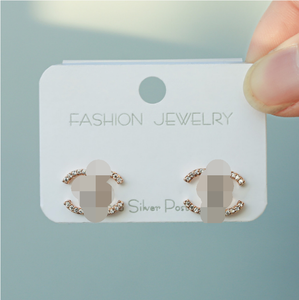 XUNBEI latest new product ladies jewelries 925 sterling silver stud earrings women